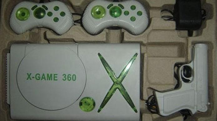 O X-Game 360 não tem um design tão exagerado quanto outras cópias (Foto: Reprodução/ThumbPress)