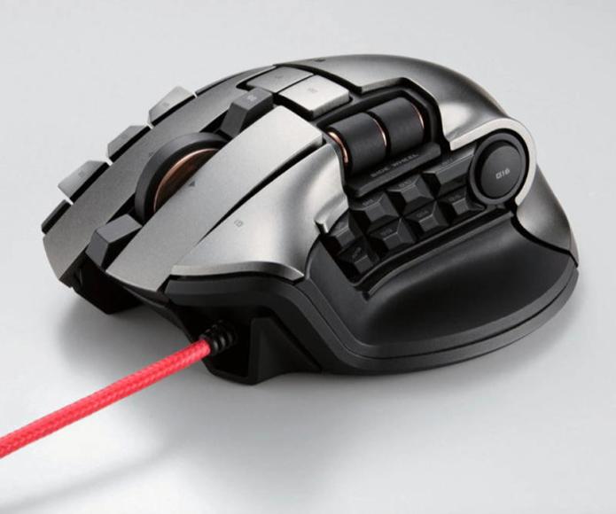 Com arsenal de botões, mouse para MMORPG da Elecom pode ser usado em dois computadores ao mesmo tempo (Foto: Divulgação/Elecom)