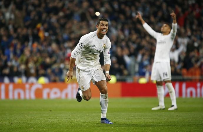 Cristiano Ronaldo gol Real x Wolfsburg (Foto: Reuters)
