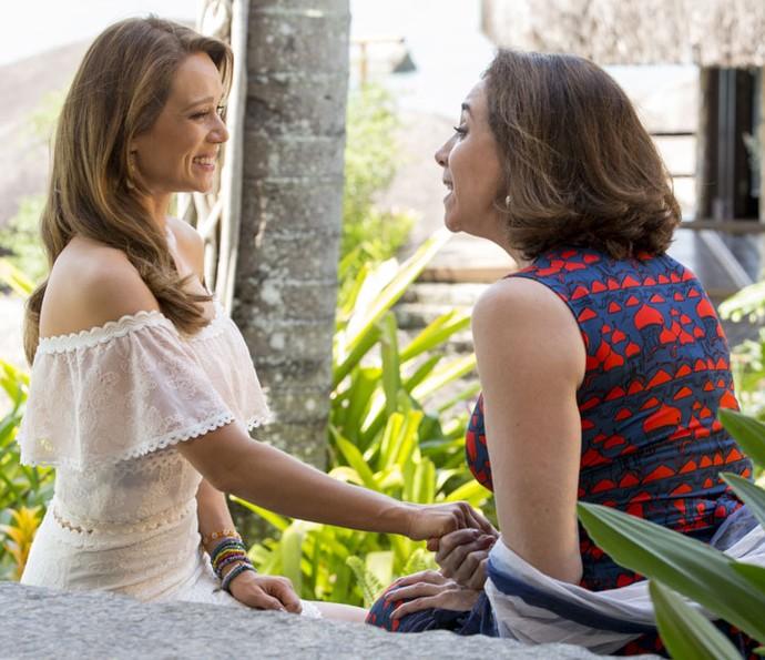 Tancinha toma decisão após conversa com Francesca (Foto: Felipe Monteiro/Gshow)