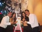 Namorada de Cristiano Ronaldo posta fotos da festa de réveillon dos dois