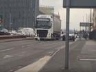Cisne provoca caos no trânsito no centro de Manchester