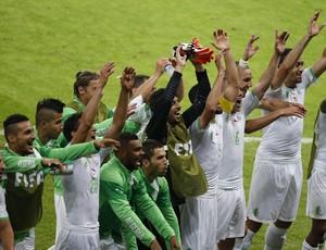 jogadores Argélia comemoram