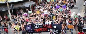 Em SP, 'Marcha das Vadias' pede a legalização do aborto (Douglas Pingituro/Brazil Photo Press/Estadão Conteúdo)