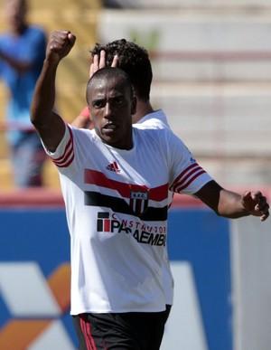 samuel santos, atacante do botafogo-sp (Foto: Thiago Calil/Ag. Botafogo)