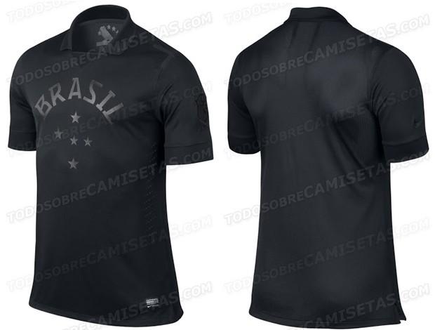 Camisa brasil preta (Foto: Divulgação)