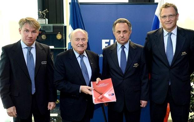Blatter comitiva Rússia Copa 2018 FIFA (Foto: Divulgação / FIFA.com)