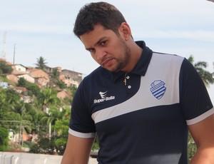 Afonso Brasileiro, fisioterapeuta do CSA (Foto: Leonardo Freire/GloboEsporte.com)