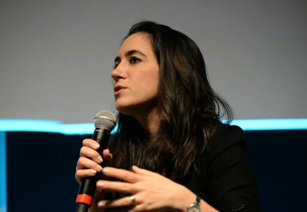 Cristina Junqueira, cofundadora e vice-presidente de produto, marketing e operação do Nubank (Foto: Felipe Tazzo/Endeavor)