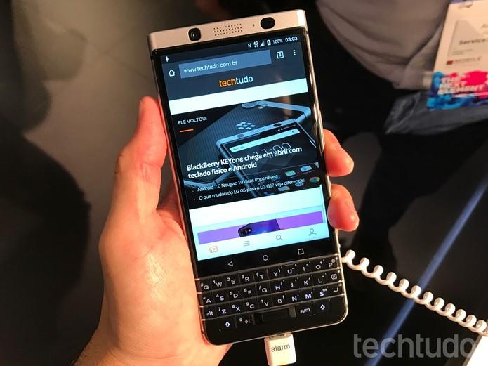 BlackBerry KEYone na MWC 2017 – Foto 01 – Thássius Veloso (Foto: Thássius Veloso/TechTudo)