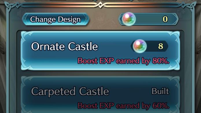 Melhore seu castelo em Fire Emblem Heroes para ganhar grandes bônus de experiência (Foto: Reprodução/Rafael Monteiro)