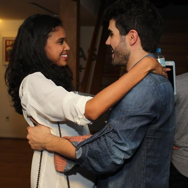 Aline Dias e Juliano Laham (Foto: Marcello Sá Barretto/AgNews)