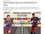 """Jornal compara Neymar a Messi e diz: """"O príncipe que se converterá em rei"""""""