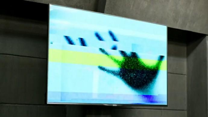 Imagem bizarra aparece na TV (Foto: TV Globo)