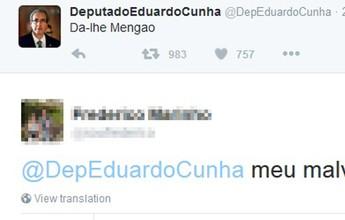 """De cassado a oráculo: Eduardo Cunha vira """"mito"""" com tuitadas sobre o Fla"""