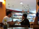 Sophie Charlotte aparece com visual novo em almoço com Daniel Oliveira