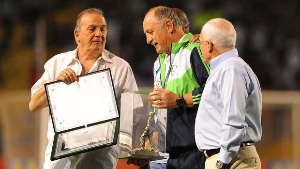 Felipão, Palmeiras x Santos (Foto: Marcos Ribolli / Globoesporte.com)