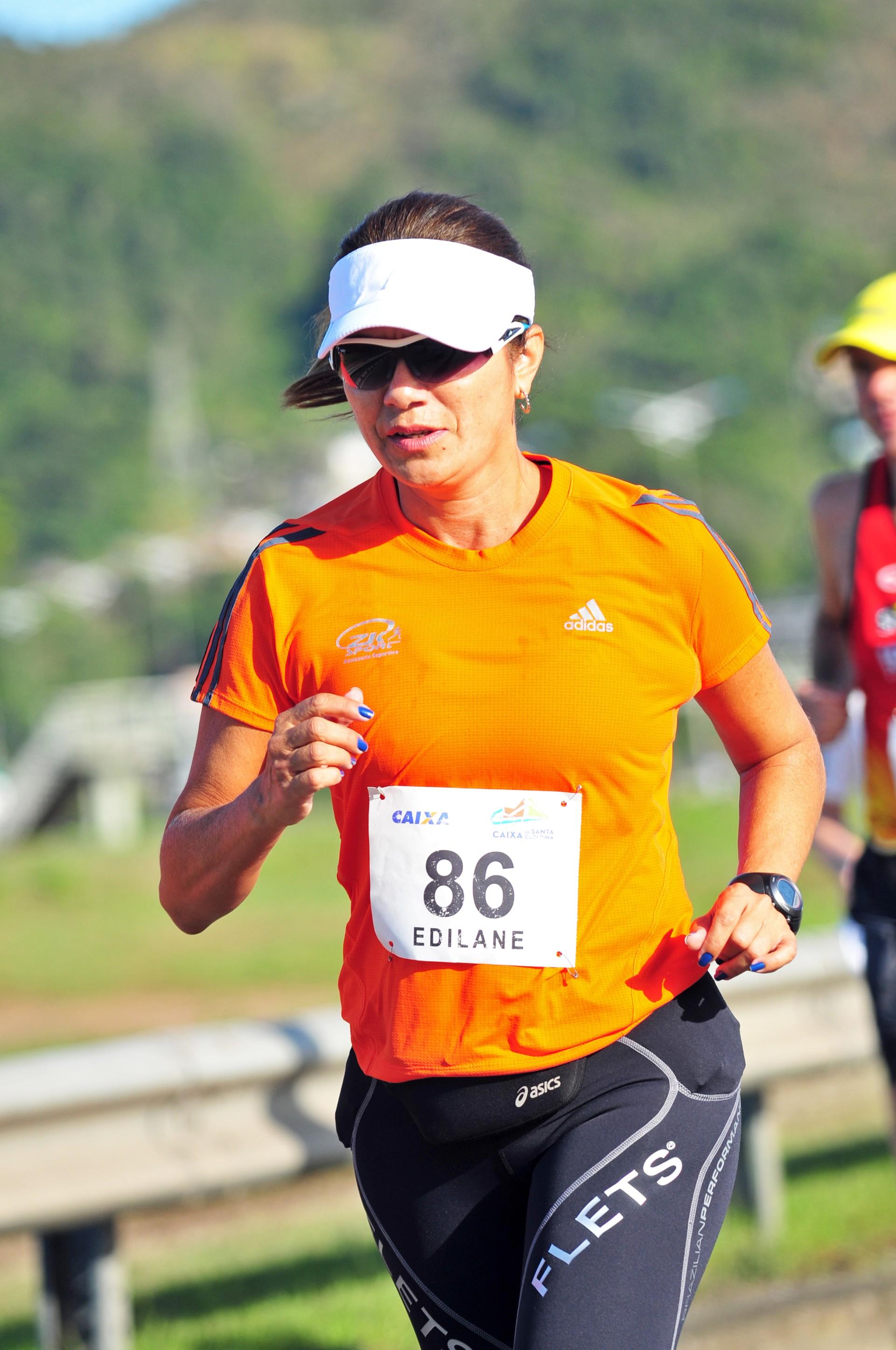 Edilane em sua primeira maratona (Foto: Arquivo Pessoal)