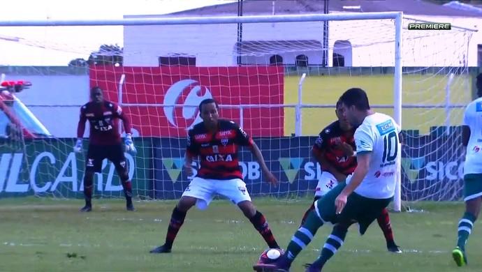 Rio Verde x Atlético-GO (Foto: Reprodução/Premiere)