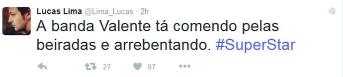 Lucas Lima diz que a Valente arrebentou (Foto: Internet/Reprodução)