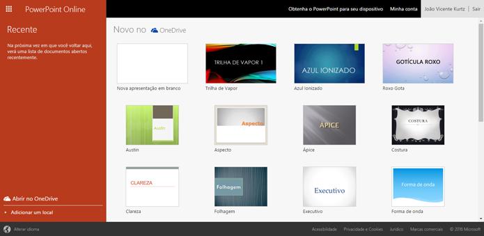 PowerPoint é a opção clássica para quem quer criar slides (Foto: Reprodução/Microsoft)