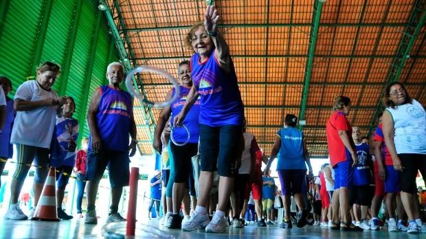 Olimpíadas da terceira idade Manaus (Foto: Antônio Lima/Semjel)