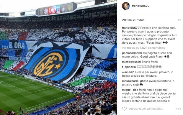 Postagem Frank De Boer Inter de Milão