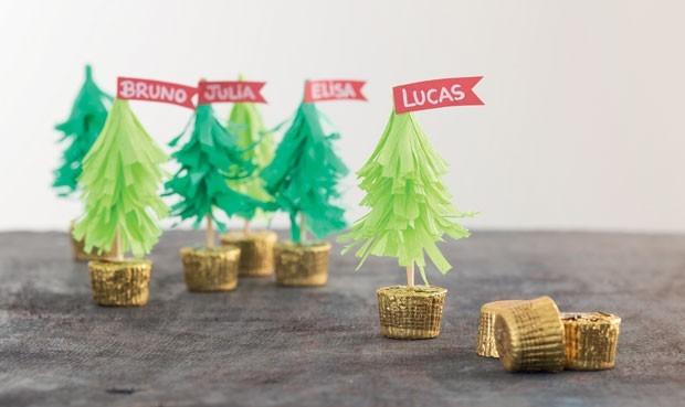 Árvore de Natal de papel (Foto: Bruno Marçal)