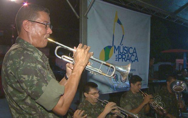 Exército do Amapá realizou apresentação instrumental no projeto (Foto: Bom Dia Amazônia)