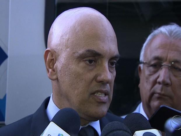 Ministro da Justiça participa de evento em Aracaju (Foto: Alan Magalhães/TV Sergipe)