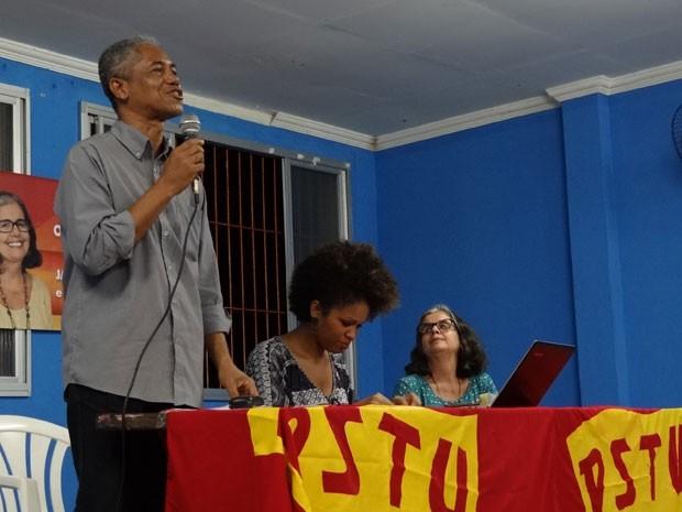 PSTU-PE homologa Jair Pedro como candidato ao governo de Pernambuco (Foto: Luna Markman / G1)