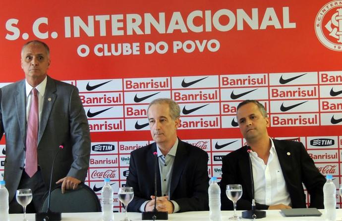 Marcelo Medeiros Giovanni Luigi Roberto Melo direção Inter (Foto: Tomás Hammes / GLOBOESPORTE.COM)