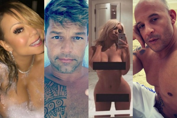 Mariah Carey, Ricky Martin, Kim Kardashian e Vin Diesel (Foto: Getty Images)