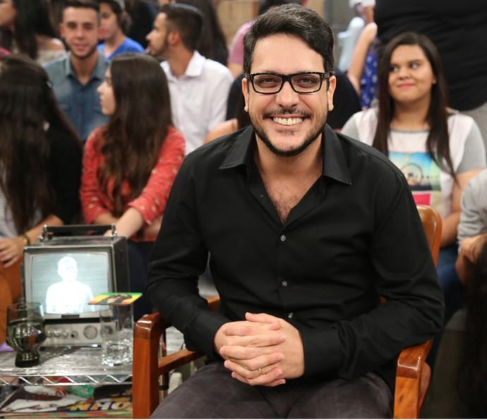 Lúcio Mauro Filho participa da gravação do programa Altas Horas (Foto: Carol Caminha/Gshow)