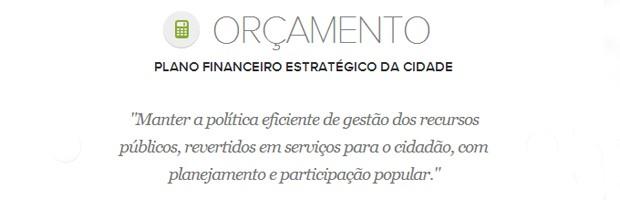 Meta de orçamento do prefeito de Belo Horizonte, Marcio Lacerda (Foto: Arte/G1)