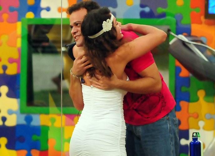 Maria e Daniel agitavam a casa do BBB (Foto: Frederico Rozario / TV Globo)
