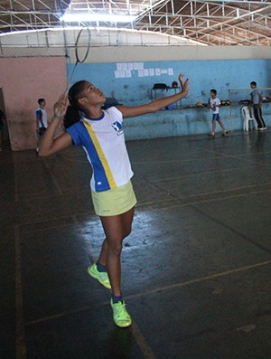 Jackeline Lopes, badminton do Joca Claudino (Foto: Wenner Tito)