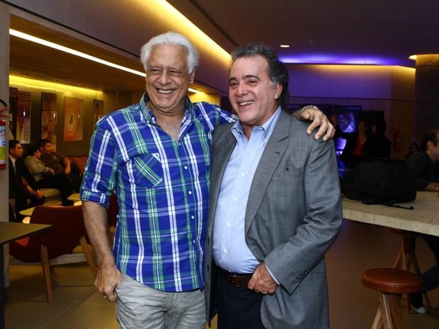 Antônio Fagundes e Tony Ramos na pré estréia do longa Getúlio (Foto: Raphael Mesquita / FotoRioNews)