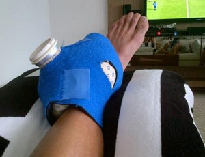 Renato Botafogo fisioterapia (Foto: Reprodução / Twitter)