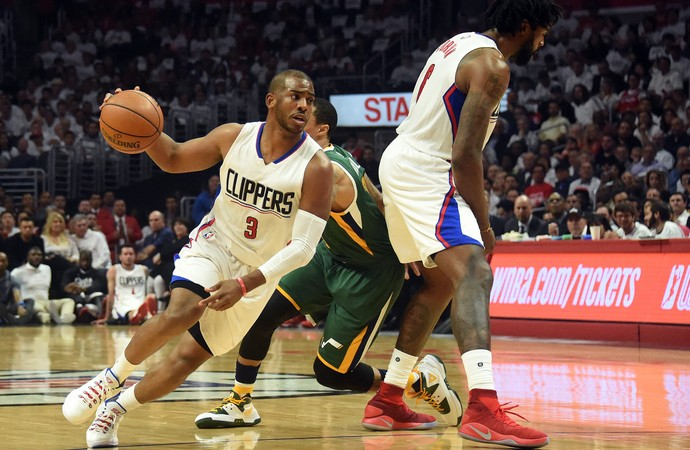 Chris Paul Jazz x Clippers NBA (Foto: Reuters)