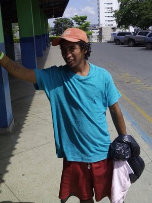 Cristian Alejandro Valencia torcedor do Santa Fé perdido em Minas Gerais (Foto: Eder Caetano/Arquivo Pessoal)