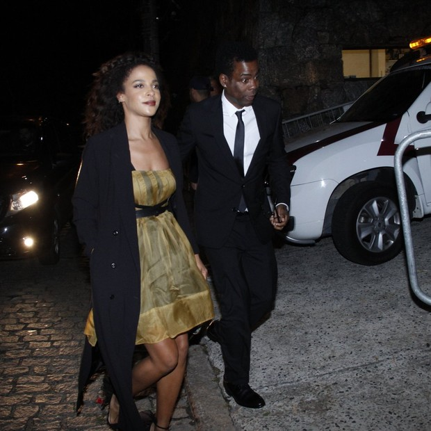 Chris Rock e Megalyn Echikunwoke (Foto: Marcos Ferreira/ BrazilNews)