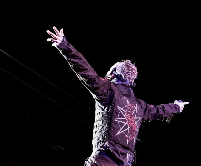 Corey Taylor agradece ao público do Rock in Rio (Foto: Ellen Soares / Gshow)