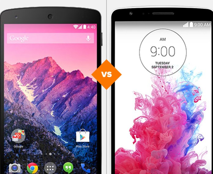 Compartivo Nexus 5 vs LG G3 (Foto: Arte/TechTudo)