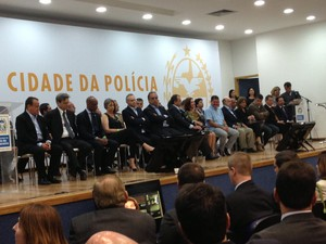Cerimônia de inauguração da Cidade da Polícia foi neste domingo (29) (Foto: Lívia Torres/G1)