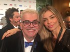 Grazi Massafera e Walcyr Carrasco vão a coquetel do Emmy Internacional