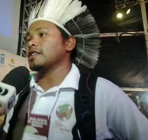 Indígena Gavião  (Foto: Edson Reis/ GloboEsporte.com)