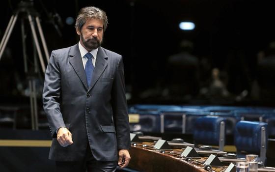 O senador Valdir Raupp no plenário.Seu caso pode abir um precedente na Lava Jato (Foto:  DIDA SAMPAIO/ESTADÃO CONTEÚDO)