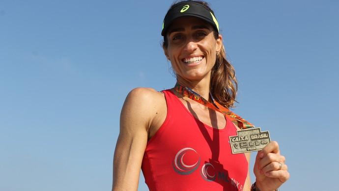 Cynthia Howlett euatleta revezamento das praias (Foto: Igor Christ/Eu Atleta)