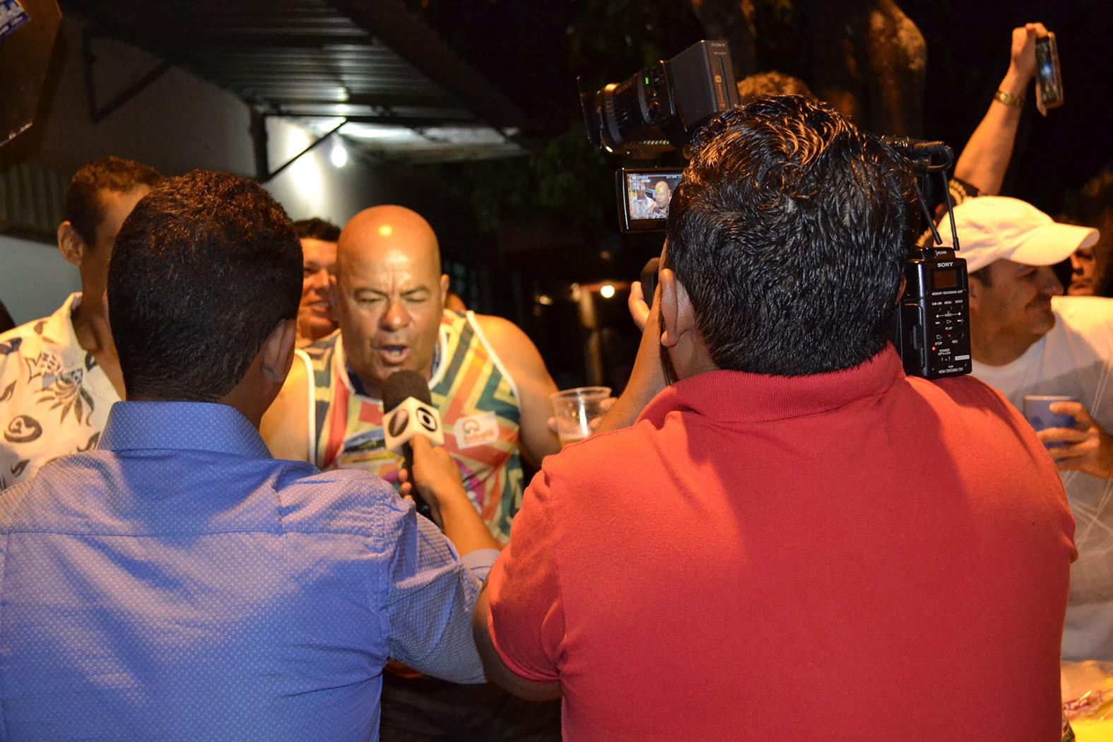 O jornalismo cobriu todas as emoções da festa (Foto: Divulgação)